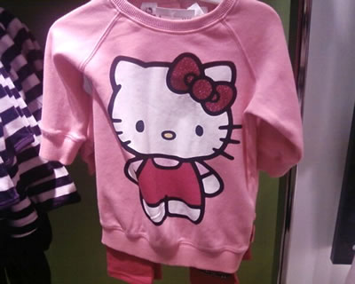 hello kitty h&m sweatshirt set