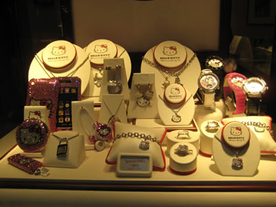 hello kitty jewelry display