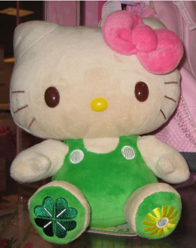 hello kitty doll st. patrick's