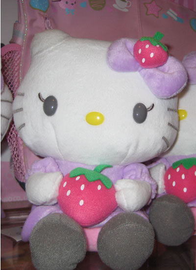 hello kitty doll with strawberry