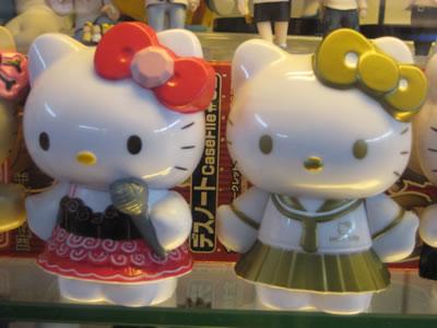 hello kitty figurines - hello kitty singer, hello kitty sailor