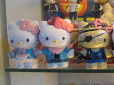 hello kitty figurines - hello kitty candy girl, hello kitty cowgirl, hello kitty pirate