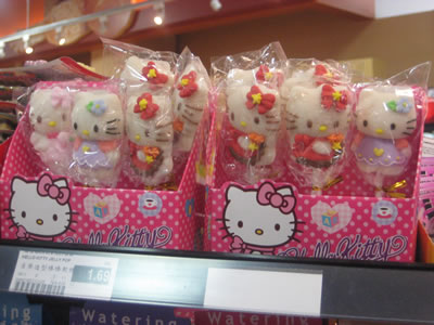 hello kitty lollipops close up