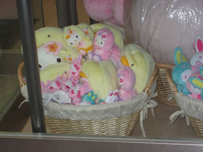 sanrio store maui - easter dolls