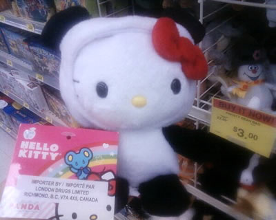 hello kitty panda doll