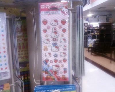 hello kitty strawberry stickers