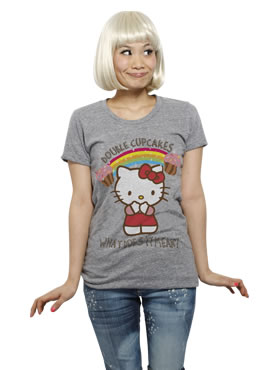 hello kitty doublecupcake t-shirt