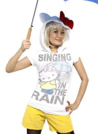 hello kitty single lady t-shirt