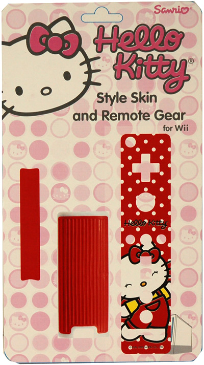 hello kitty wii remote skin