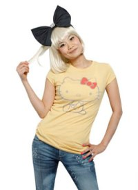 hello kitty yellow t-shirt