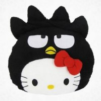 hello kitty as badtz-maru pillow