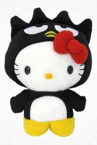 hello kitty as badtz-maru plush