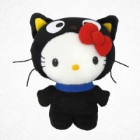 hello kitty as chococat plush