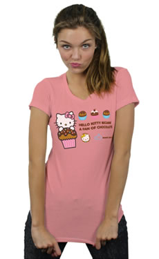 hello kitty cupcake like t-shirt