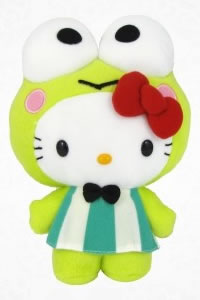 hello kitty as keroppi plush