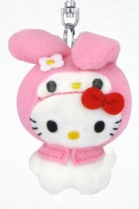 hello kitty as my melody keyring
