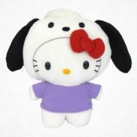 hello kitty as pochacco plush