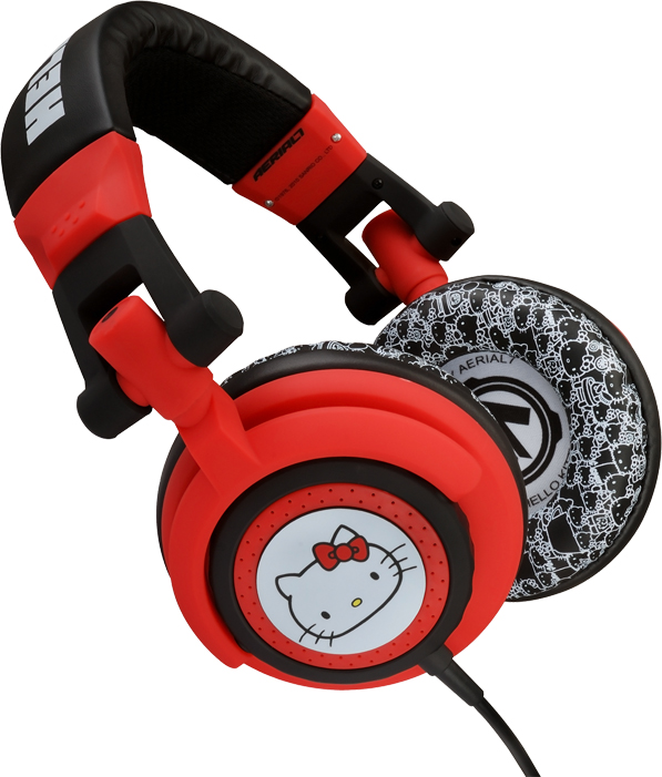 hello kitty aerial7 headphones. Thanks Shannon for sending me the news!