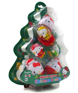 hello kitty christmas bauble set