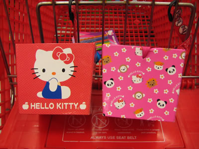 hello kitty boxes side