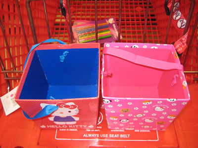 hello kitty boxes top