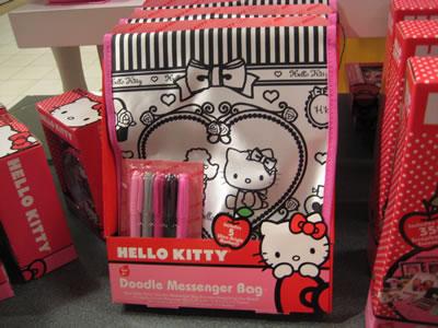 hello kitty doodle messenger bag