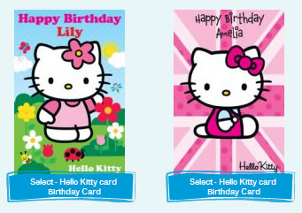hello kitty greeting cards