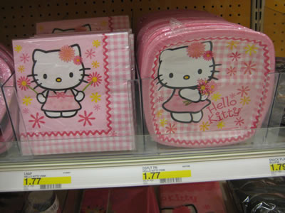 hello kitty party plates napkins