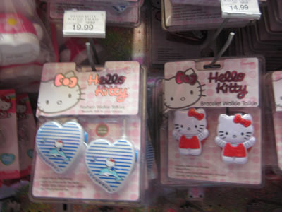 hello kitty bracelet walkie talkies