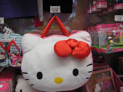 hello kitty face bag