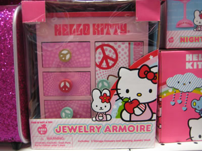 hello kitty jewelry armoire