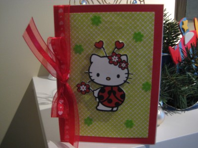 hello kitty ladybug birthday card