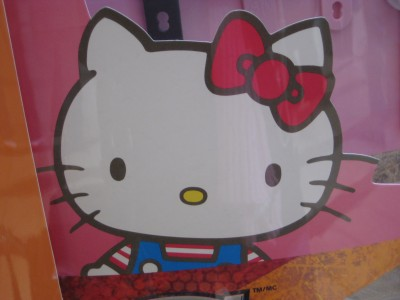 sanrio hello kitty sign at macdonald's