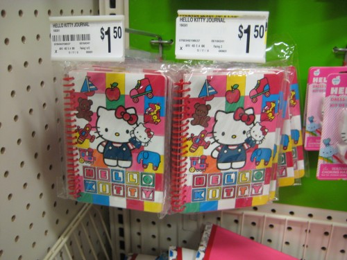 hello kitty note pads