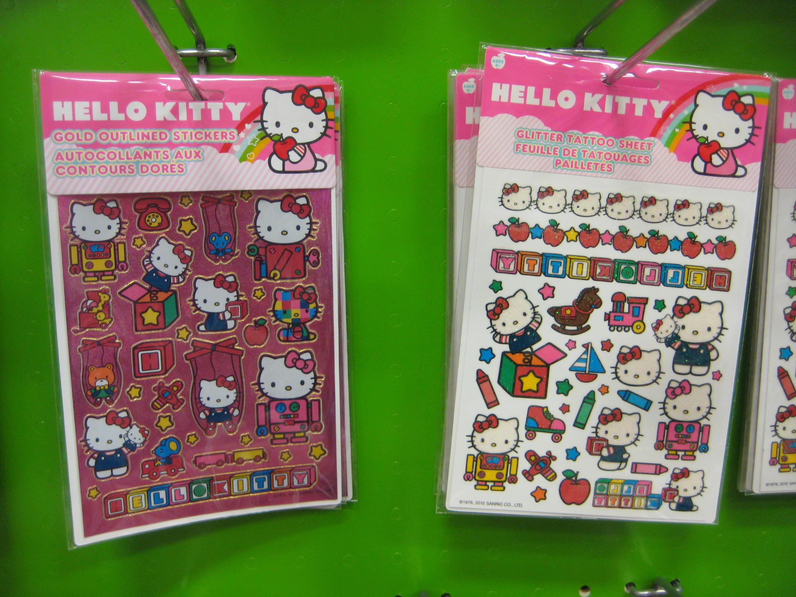 Hello Kitty Sticker Sheets