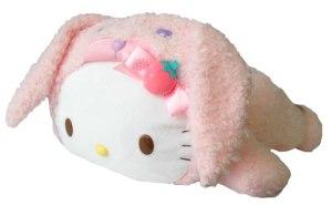 hello kitty bunny pillow