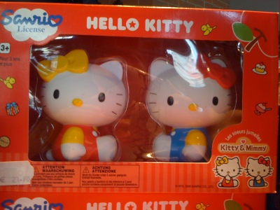 hello kitty and mimi figurines