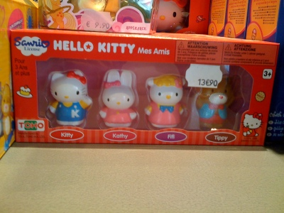 hello kitty figurines - mes amis