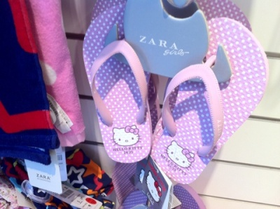 hello kitty zara flip flops