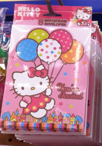 hello kitty birthday supplies - cards