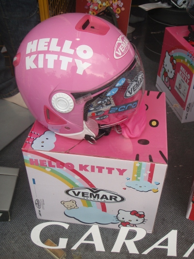 hello kitty helmet pink