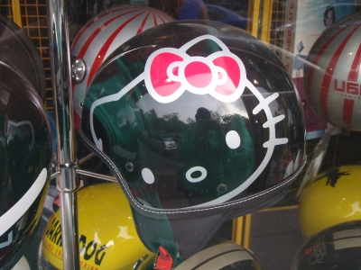 hello kitty helmet black