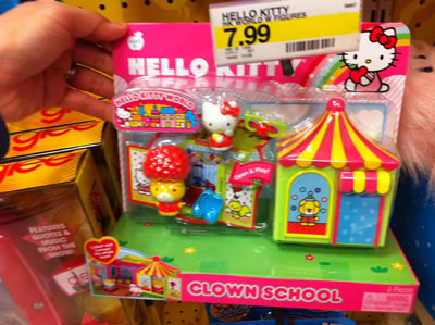 hello kitty toys - clown school
