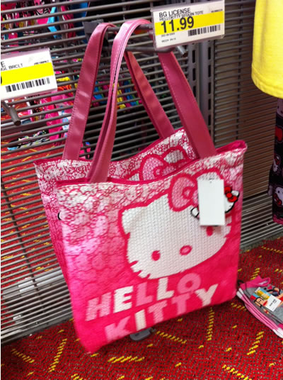hello kitty bag pink