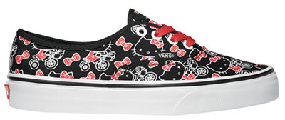 hello kitty black and red vans shoes