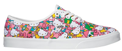 hello kitty colourful vans shoes