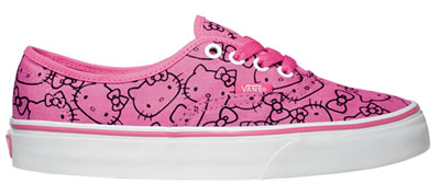 hello kitty pink and black vans shoes