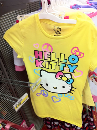 hello kitty shirt - peace and love
