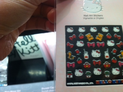 hello kitty at sephora - nail art stickers