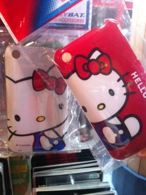 hello kitty cell phone cover - white and red